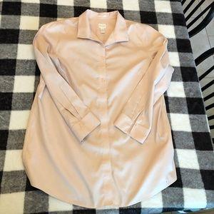 Chico's No Iron Dusty Rose Light Pink Dress Shirt